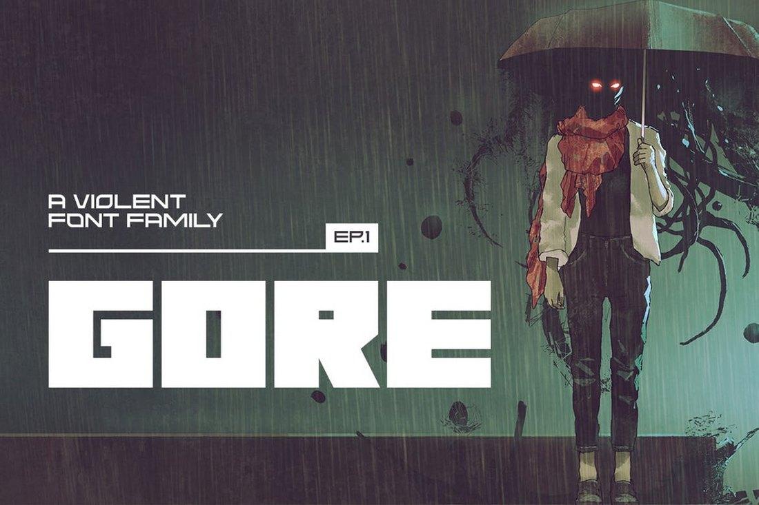 Gore - Modern Font Family