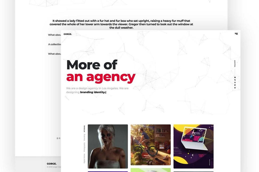 Gorge-Portfolio-Template 10 Best Graphic Design Portfolio Examples + Templates design tips