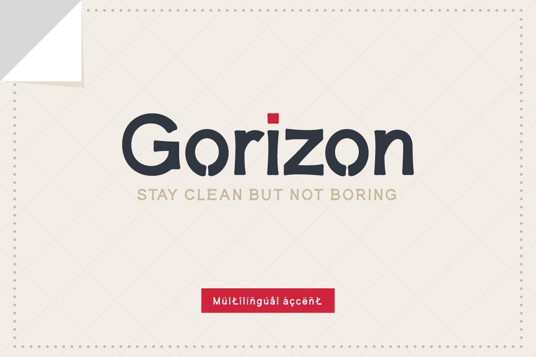 Gorizon Sans Serif Font