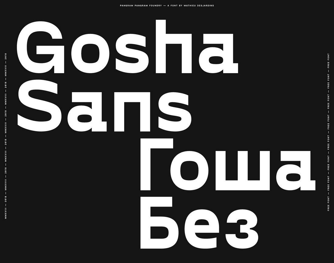 Gosha Sans - Free Slab Serif Typeface