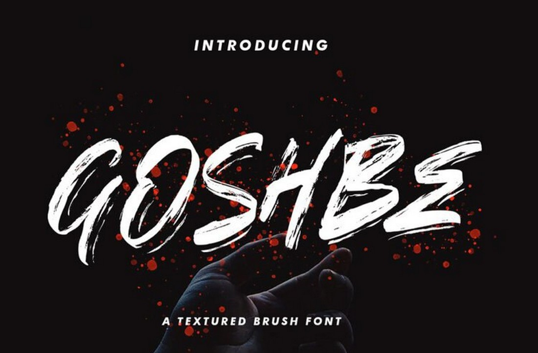 Goshbe-Free-Street-Style-Brush-Font 25+ Free Brush, Script & Hand Lettering Fonts design tips