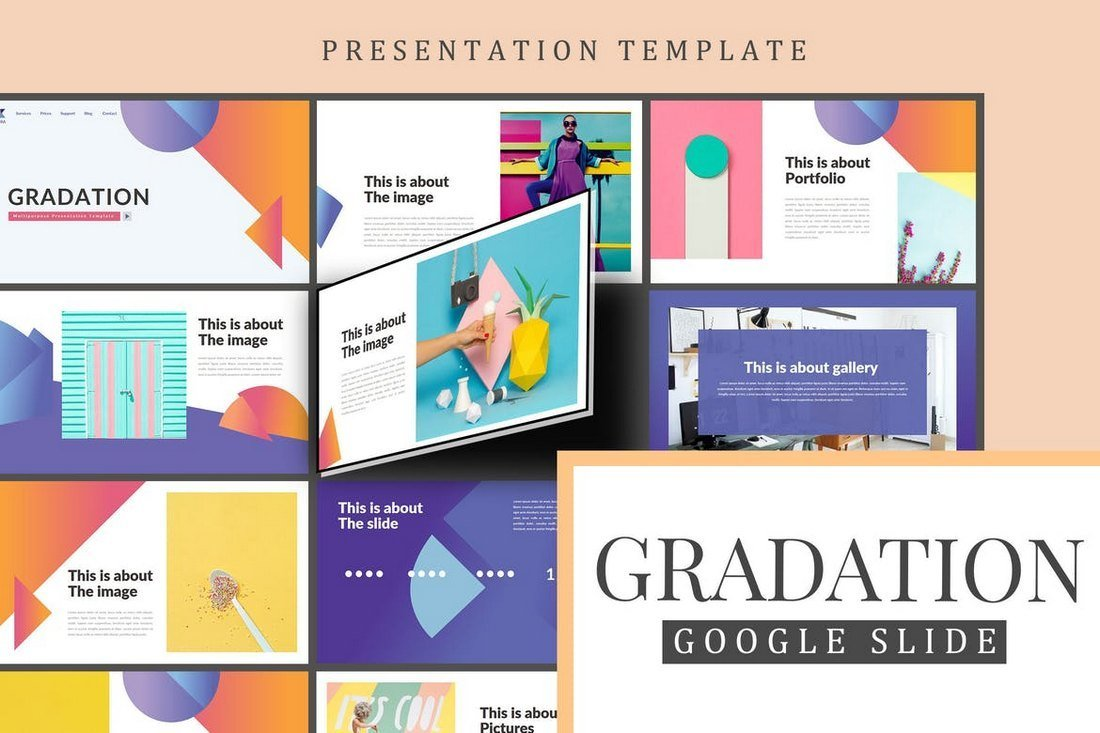 Gradation-Google-Slides-Presentation 35+ Best Google Slides Themes & Templates 2019 design tips