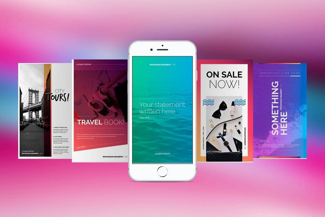 Gradient-Social-Media-Pack 20+ Best Social Media Kit Templates & Graphics design tips