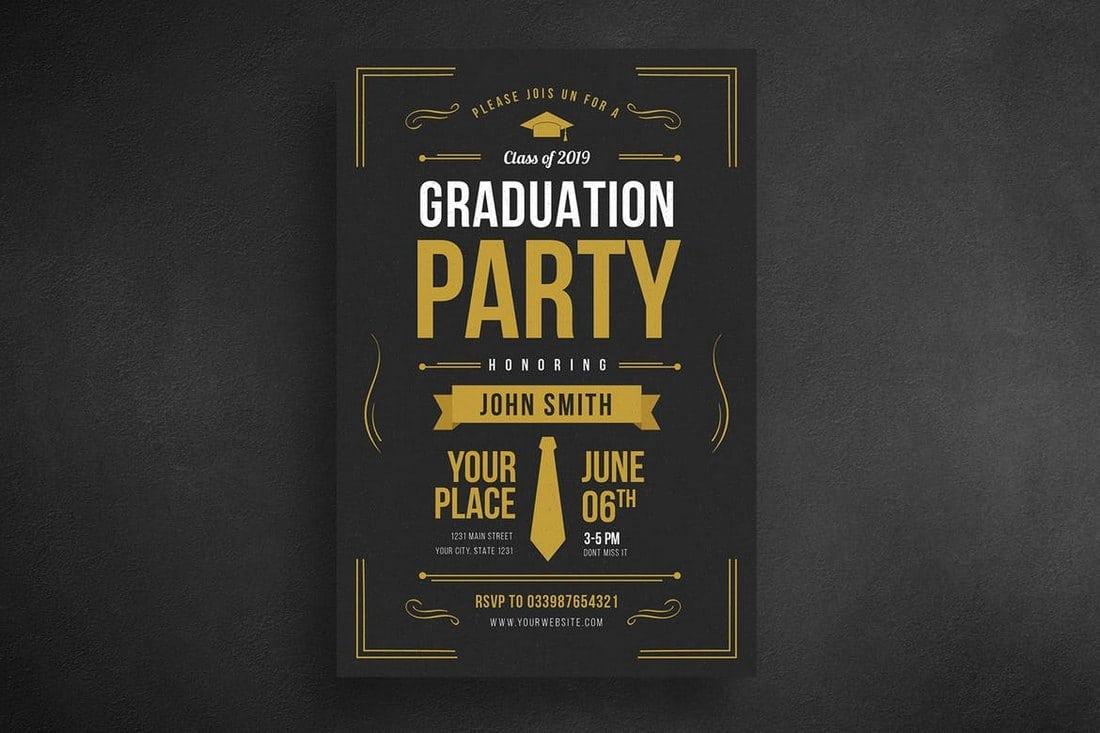 Graduation-Party-Flyer 20+ Best Event Flyer Templates design tips