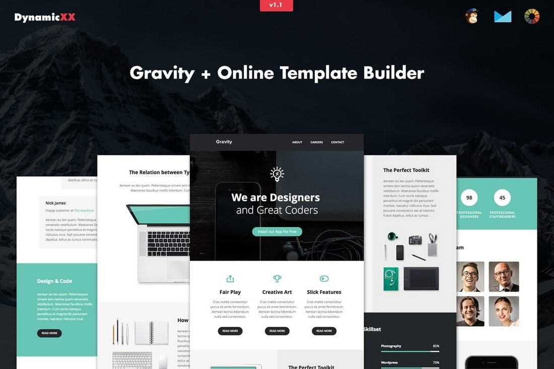 Gravity-Modern-Business-Email-Template 40+ Modern Responsive Email Templates 2021 design tips