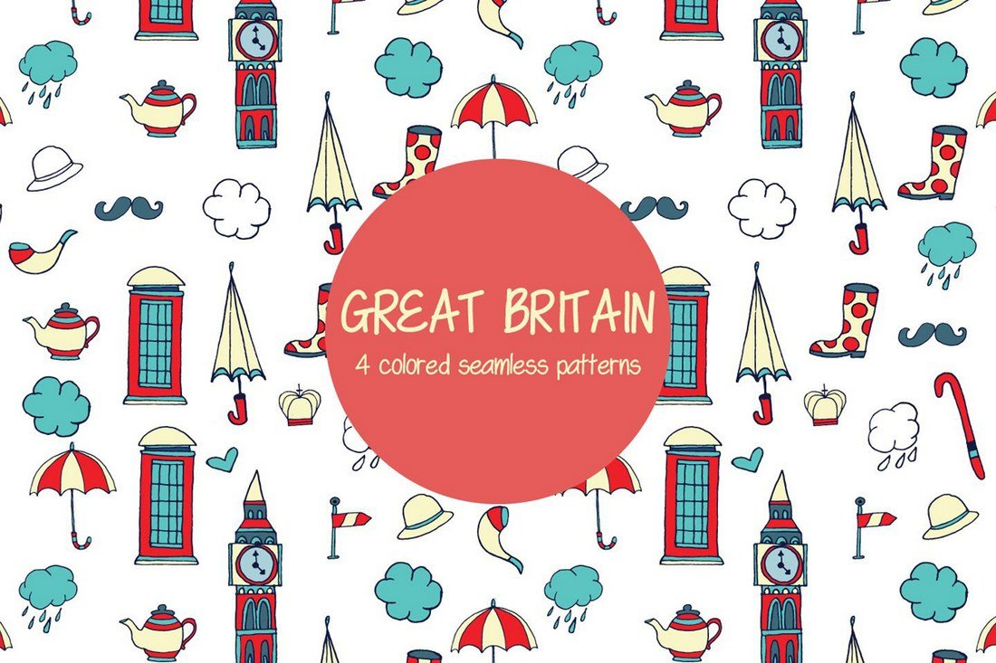 Great Britain Vector Free Pattern
