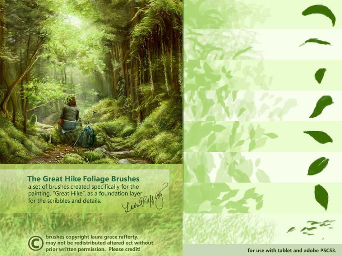 Great Hike Foliage Brushes