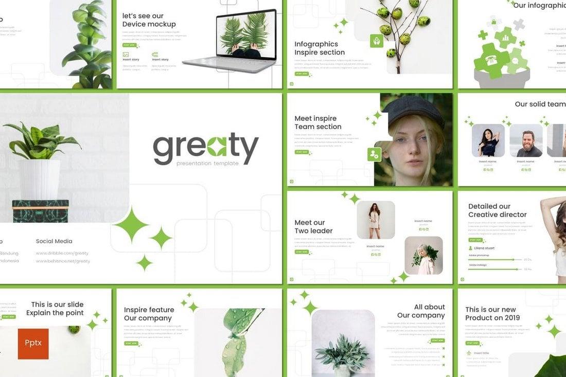 Greaty - Minimal Powerpoint Template