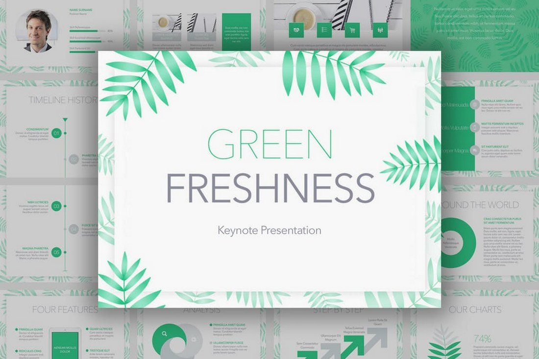 Green-Freshness-Keynote-Template 30+ Best Keynote Templates of 2018 design tips
