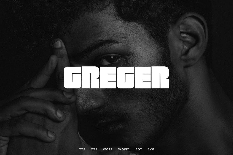 Greger - Unique Block Letter Font