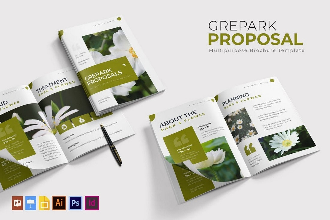 Grepark - Modern Proposal Brochure Template