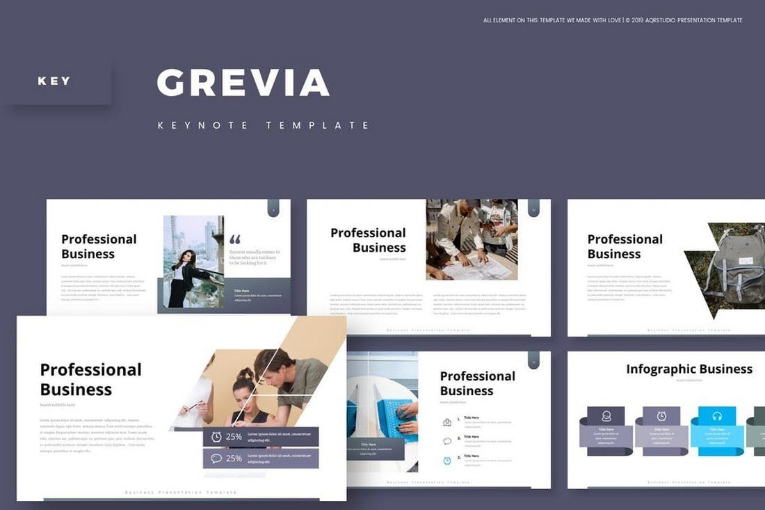 Grevia - Business Animated Keynote Template