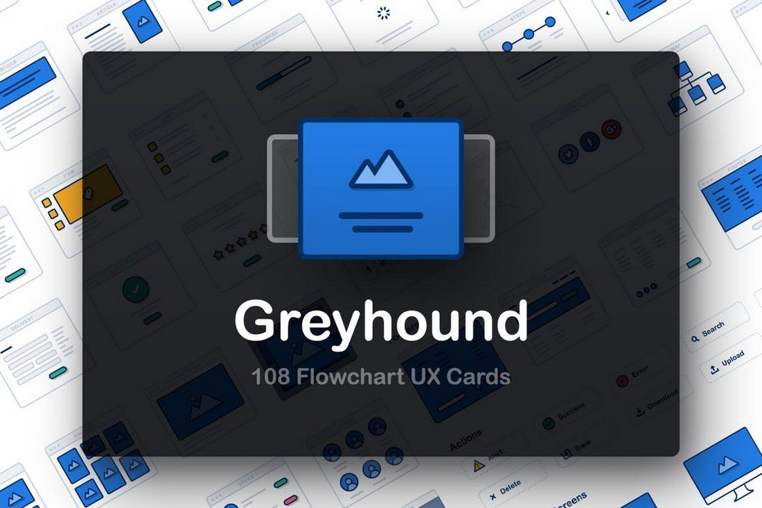 Greyhound-UX-Flowcharts 30+ Best Sketch Templates of 2019 design tips
