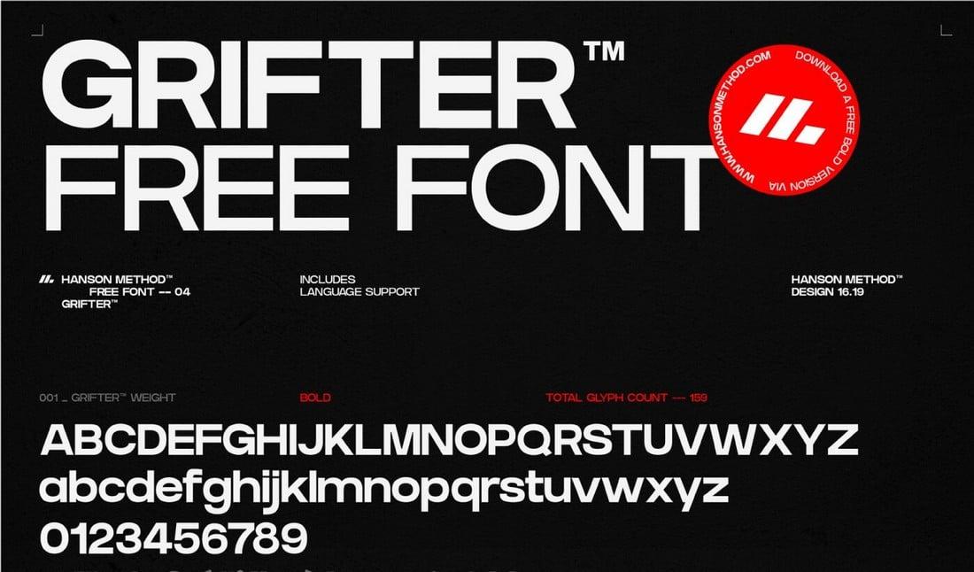 Grifter Bold - Free Book Title Font