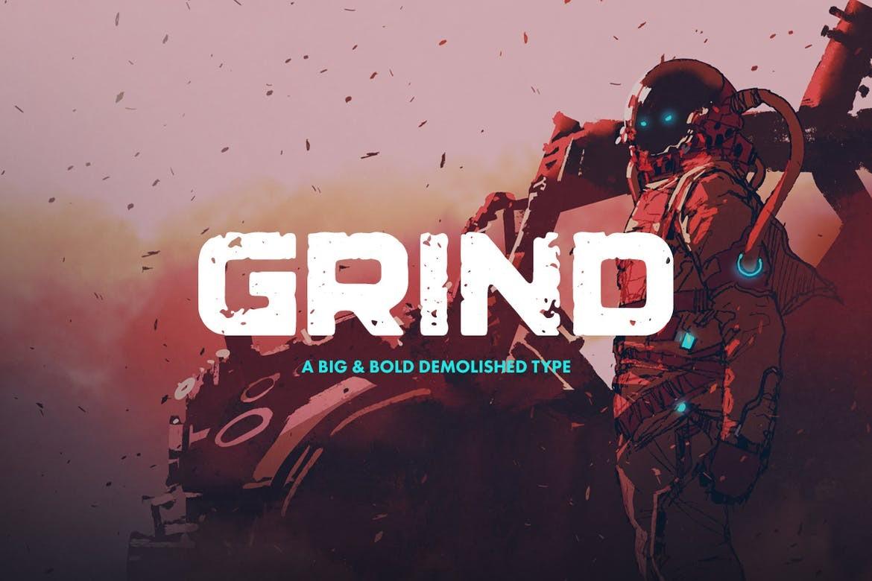Grind - Bold Block Font
