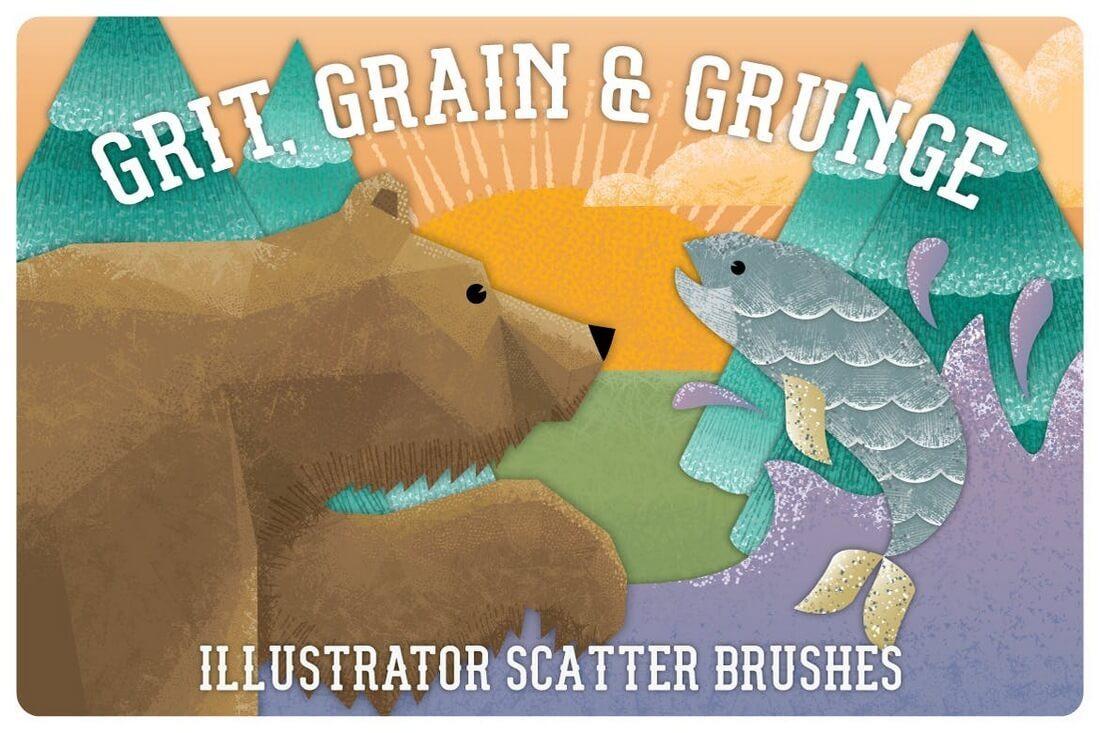 Grit-Grunge-Grain-Scatter-Brushes 30+ Best High-Quality Photoshop & Illustrator Brushes design tips