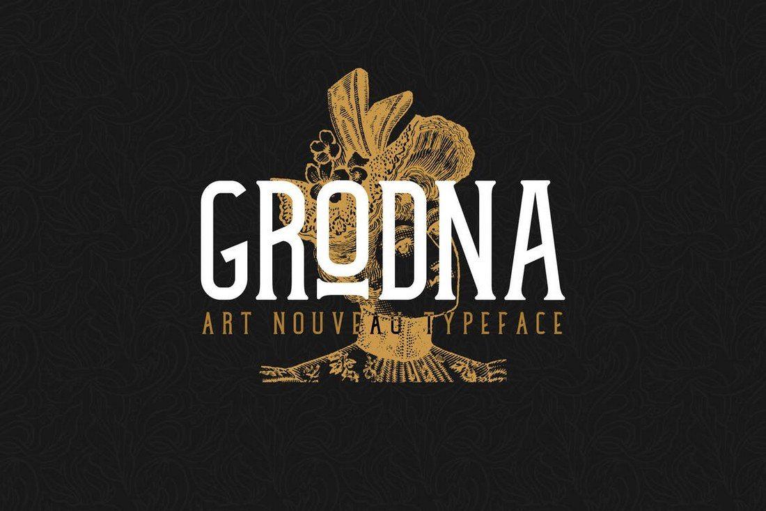 Grodna-Font 60+ Best Big, Poster Fonts of 2019 design tips