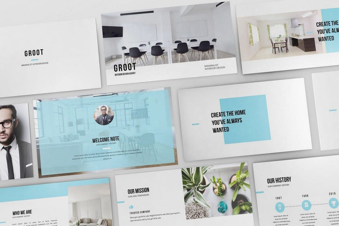 Groot-Interior-Design-Keynote-Template 30+ Best Minimal & Creative Keynote Templates design tips