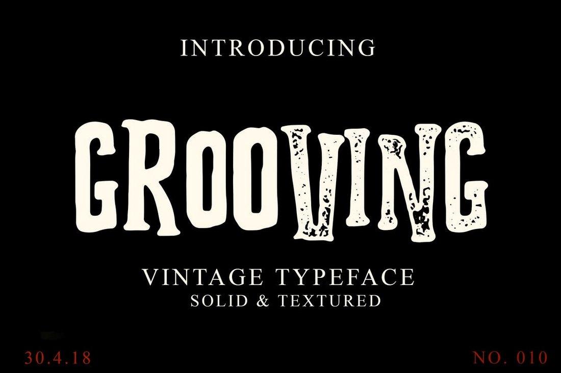 Grooving - Vintage Halloween Font