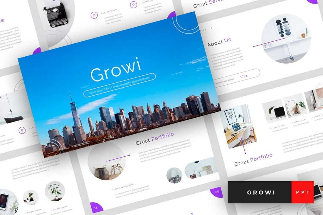 Growi - Business PowerPoint Template