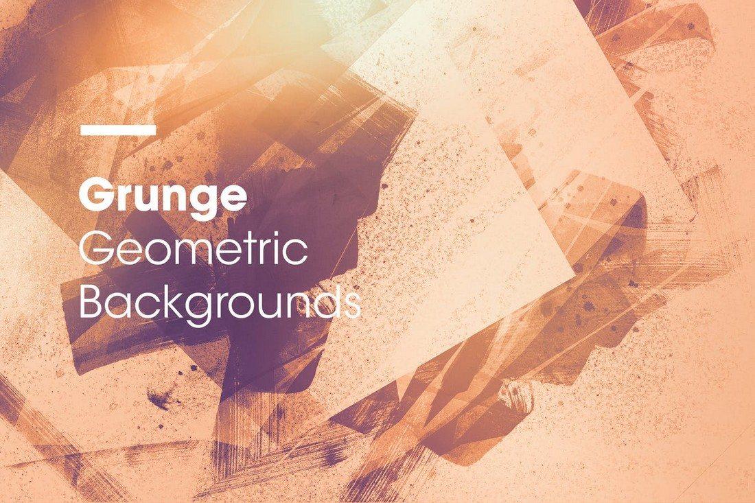 Grunge-Geometric-Backgrounds 20+ Beautiful Geometric & Polygon Background Textures design tips