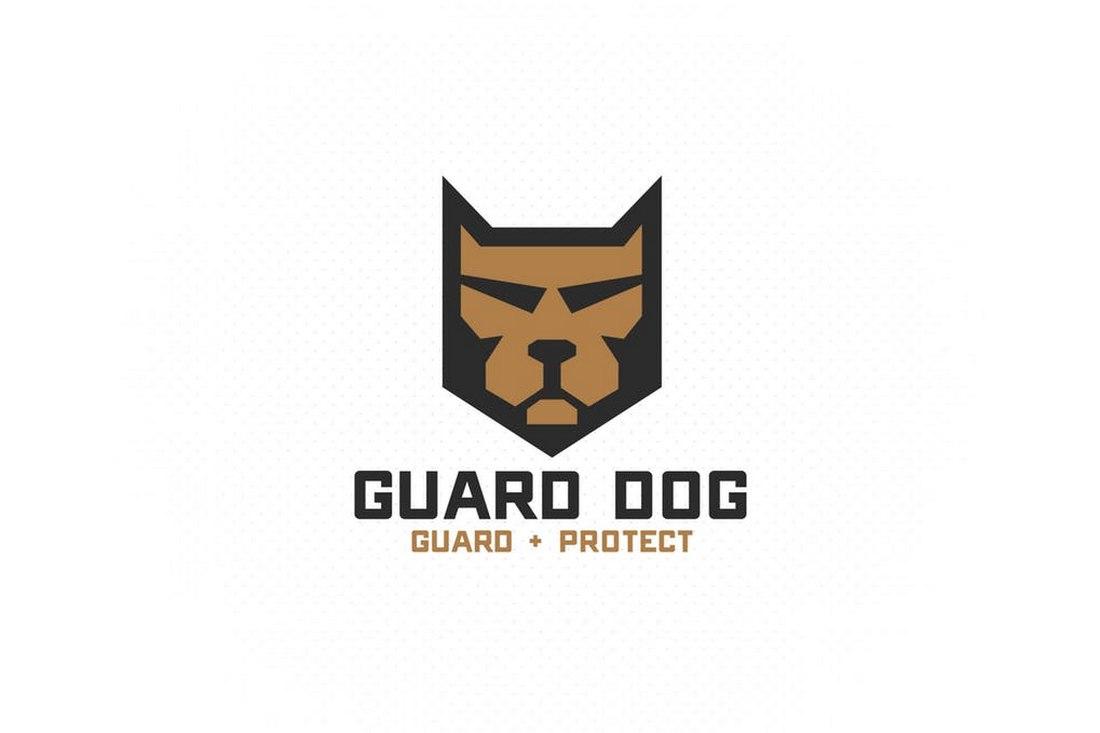 Guard Dog - Shield Logo Template