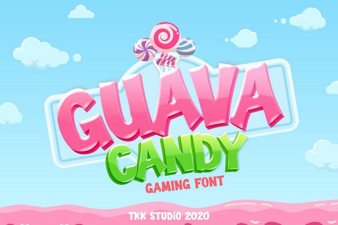 Guava Candy - Mobile Games Font