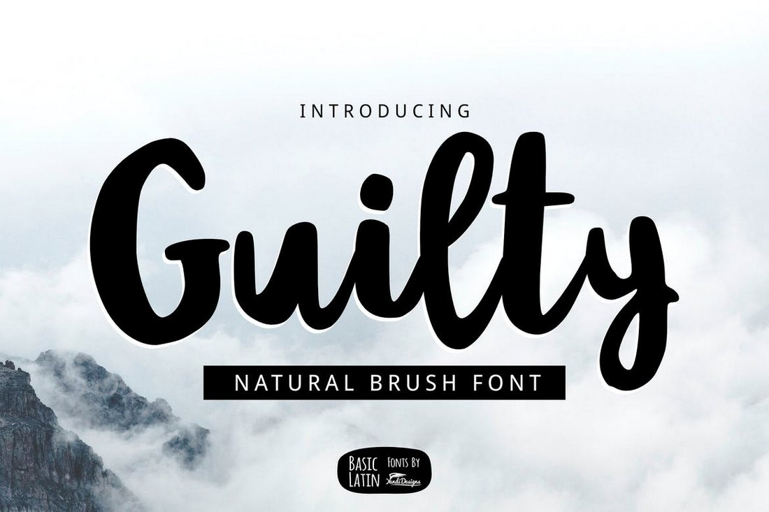 Guilty-Brush 30+ Best Cursive & Script Fonts design tips