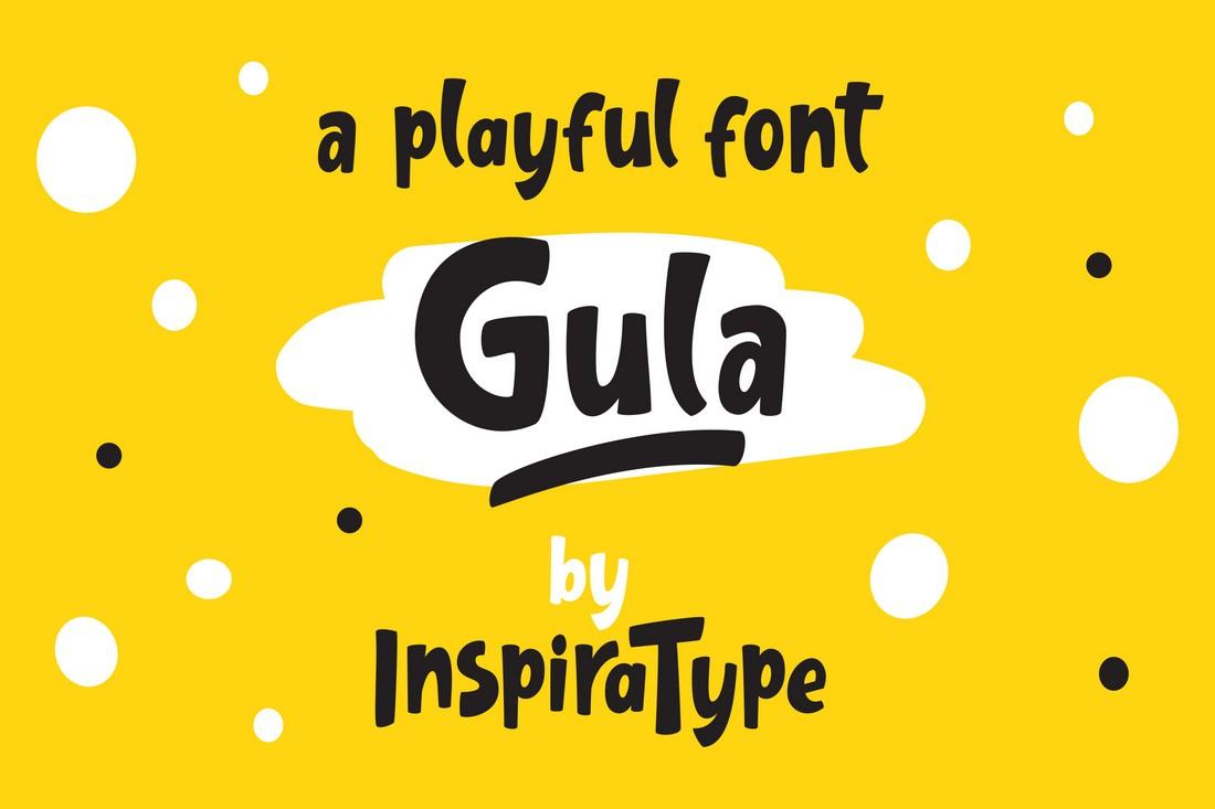 Gula - Free Playful Chubby Font