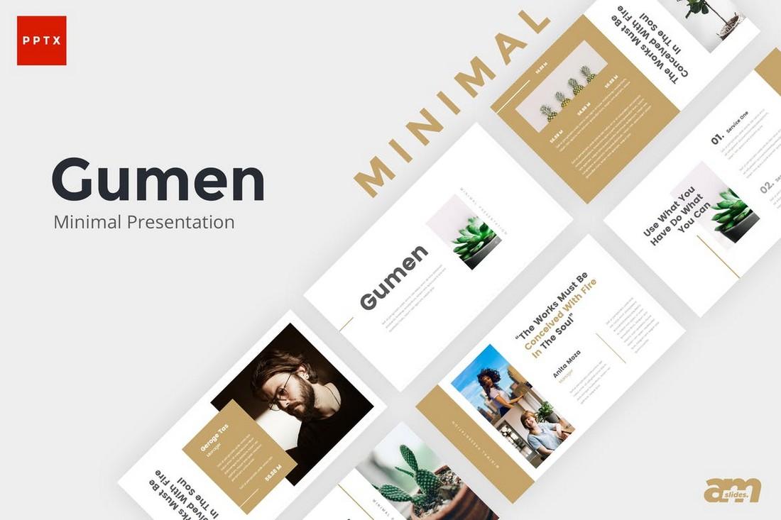 Gumen - Minimal Powerpoint Template