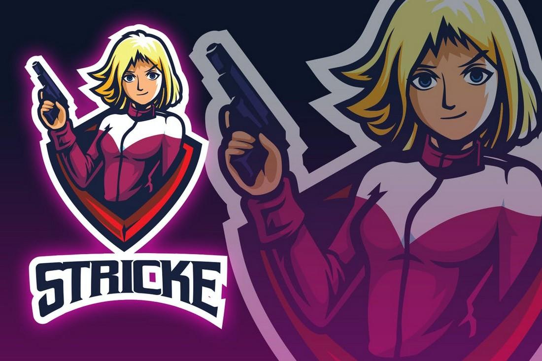 Guners Girl Esport Logo Template