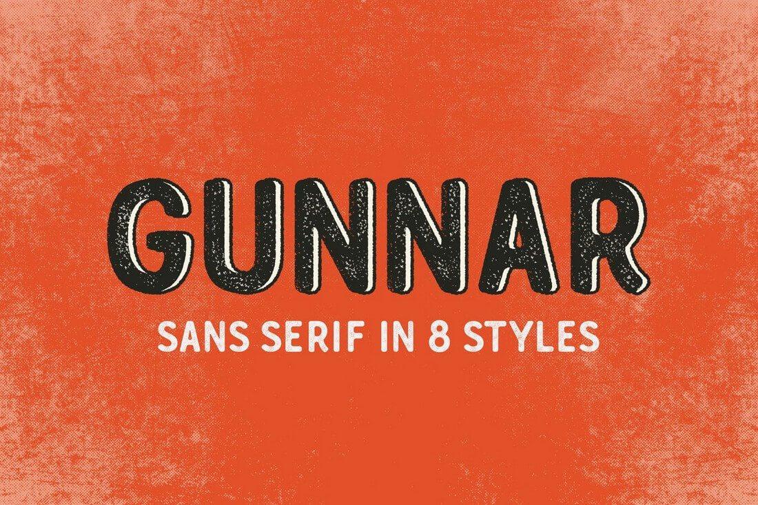 Gunnar 60+ Best Big, Poster Fonts of 2019 design tips