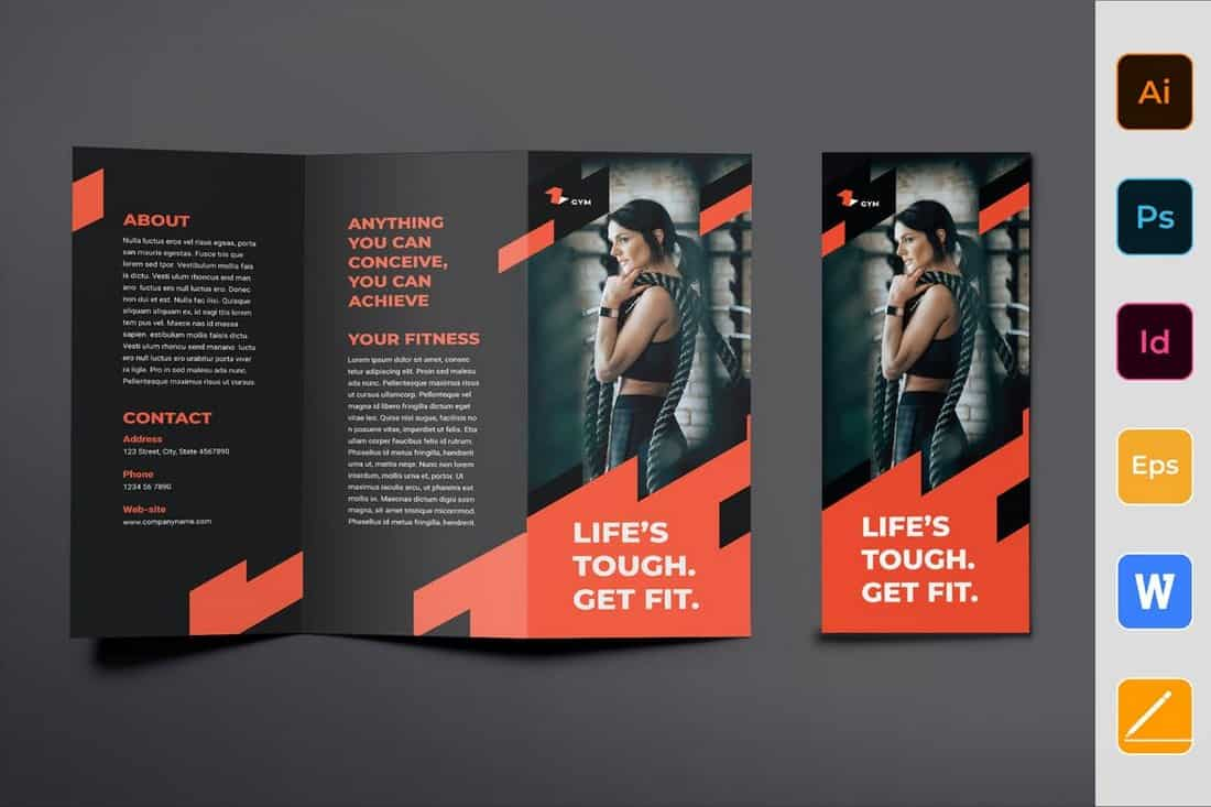Gym Training Trifold Brochure