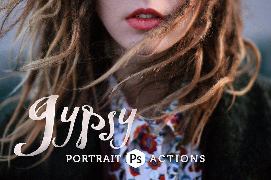 Gypsy-Portrait-Photoshop-Actions-1 20+ Best Portrait Photoshop Actions design tips