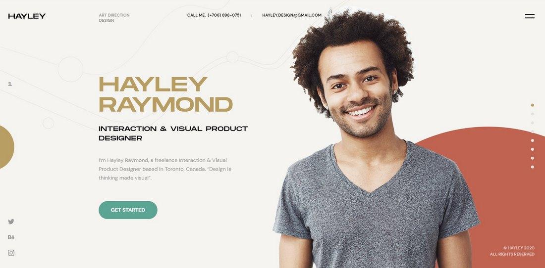 HAILEY - Creative CV & Resume HTML Template