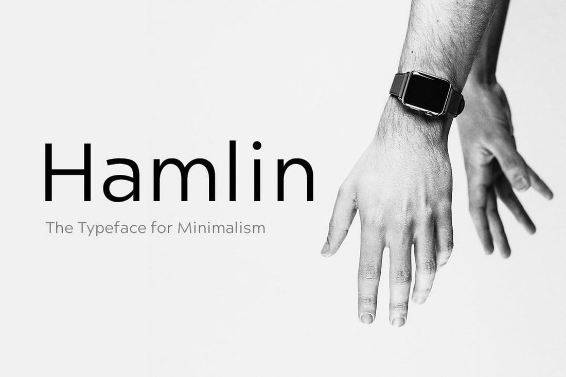 HAMLIN-Minimal-Geometric-Fonta 30+ Best Fonts for Business Cards design tips