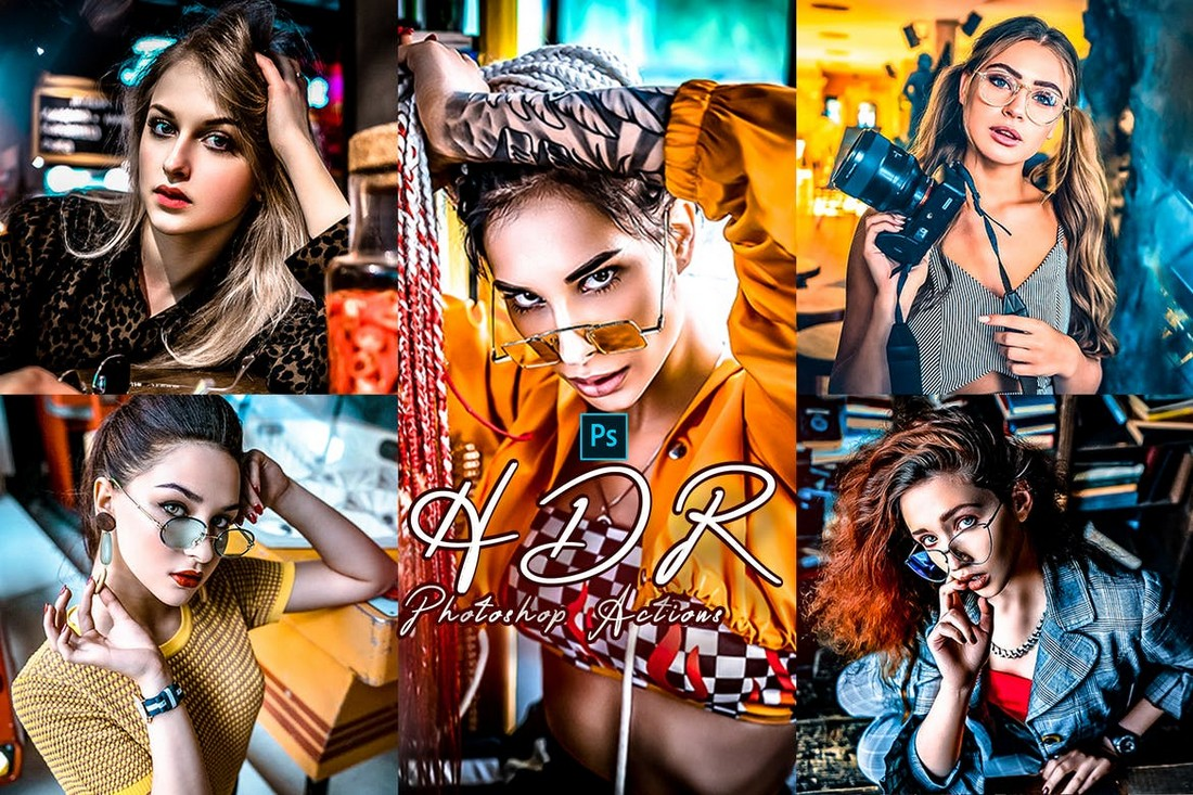 HDR Photoshop Action for Portraits