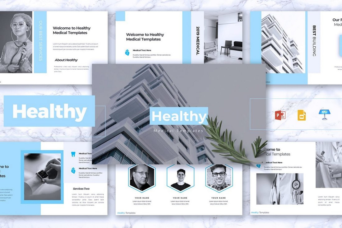 HEALTHY-Medical-Powerpoint-template 30+ Best Science & Technology PowerPoint Templates design tips  Inspiration|powerpoint|science|technology