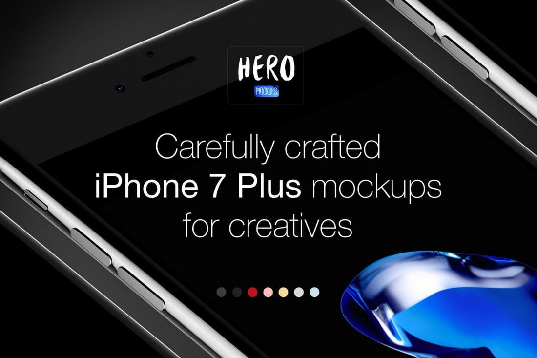 HERO-iPhone-7-Plus-Mockups 20+ Best iPhone 6 + 7 Mockup PSD Templates design tips