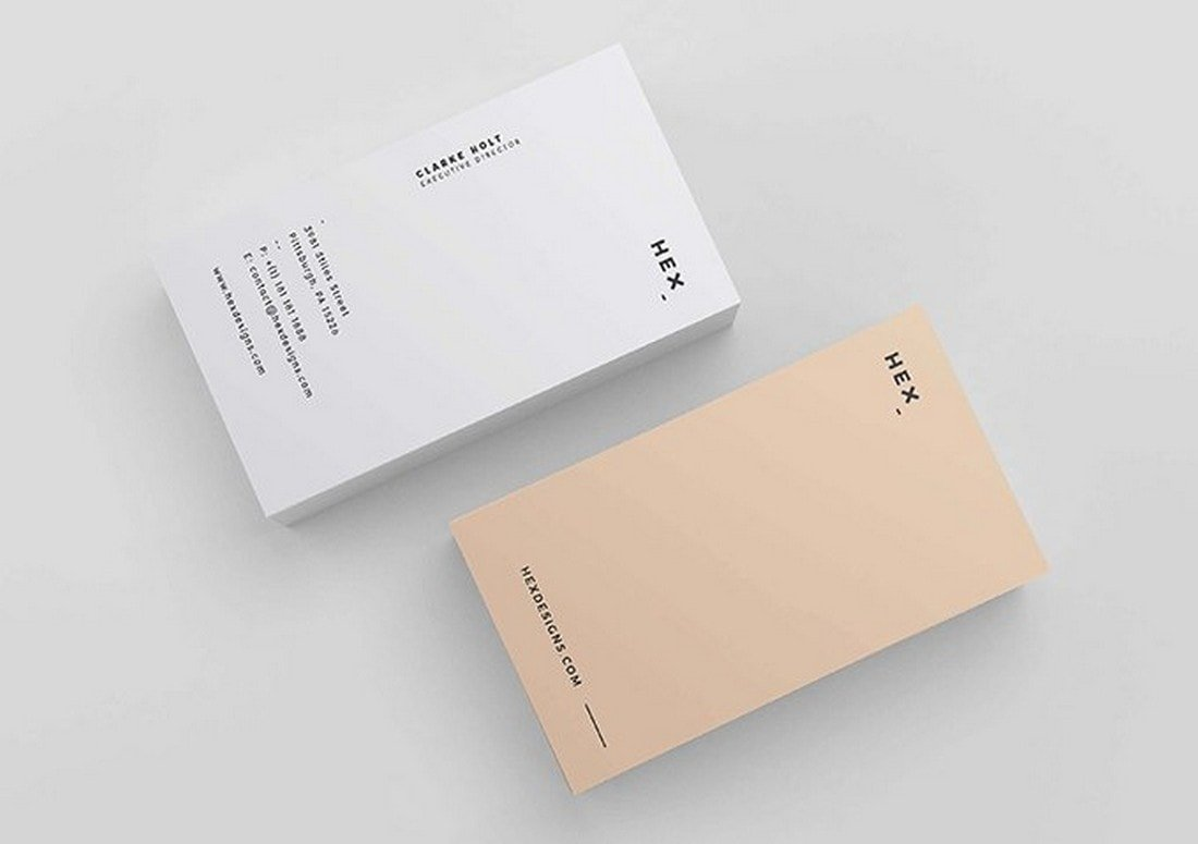 HEX - Free Business Card Template
