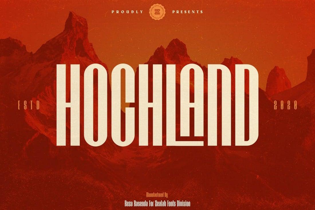 HOCHLAND - Bold Narrow Font