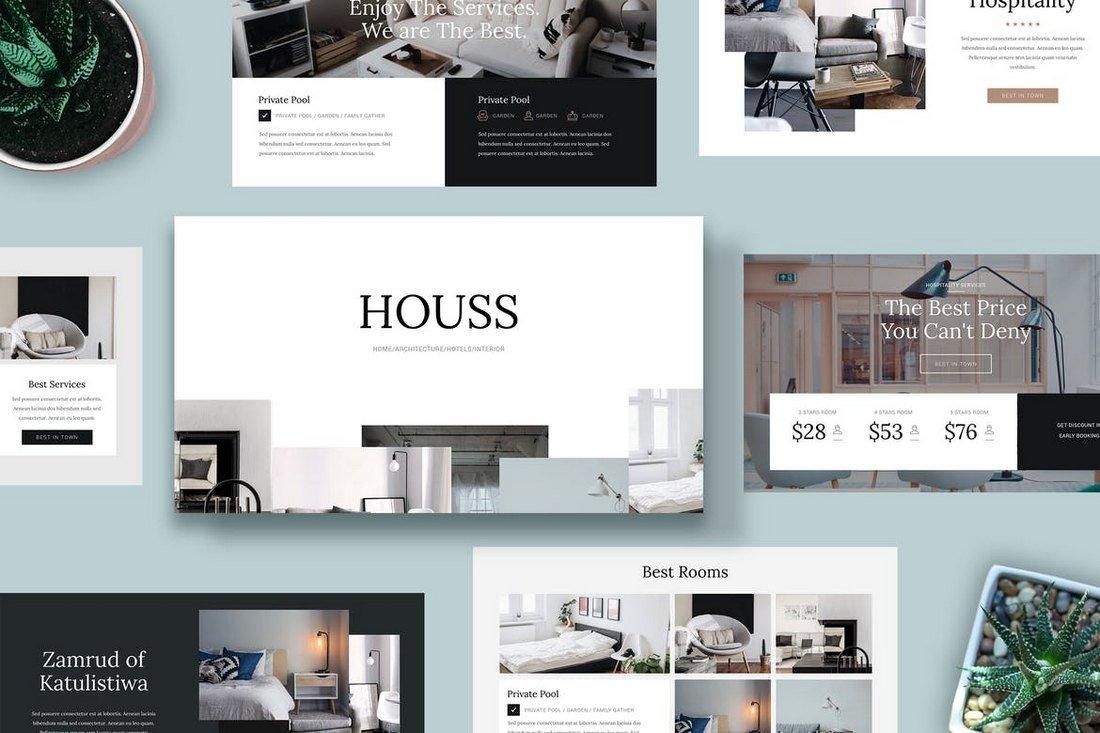 HOUSS-Powerpoint-Template 30+ Best Minimal PowerPoint Templates 2019 design tips