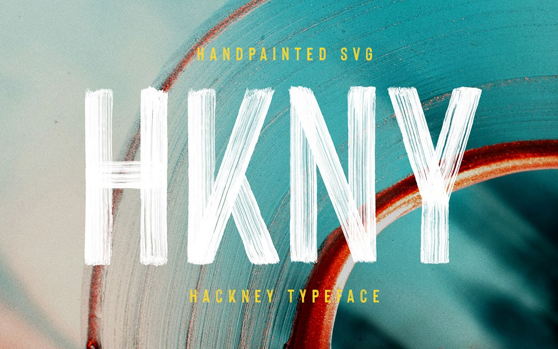 Hackney - Hand-Painted SVG Font