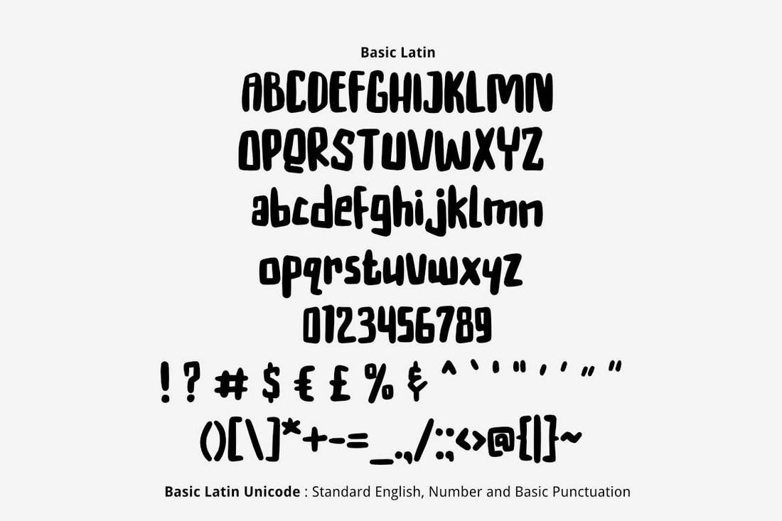Hakuna - Creative Number Font
