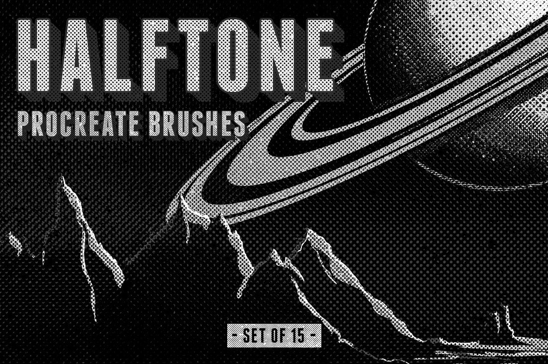 Halftone-Procreate-Brushes 30+ Best Procreate Brushes design tips