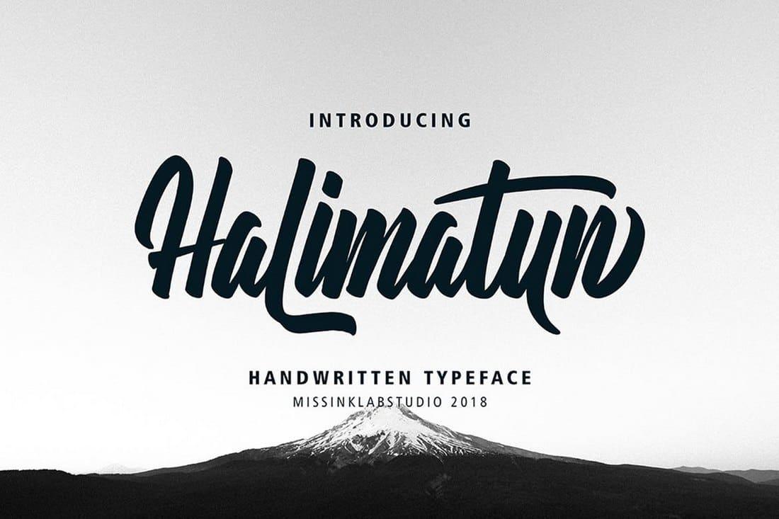 Halimatun - Modern Handwritten Font