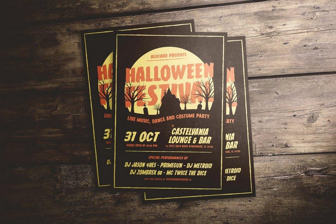 Halloween-Festival-Flyer-Template 20+ Halloween Flyer Templates design tips