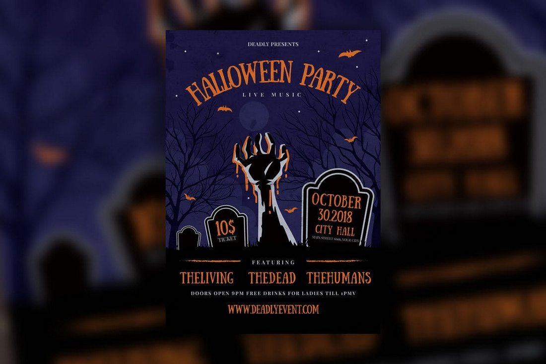 Halloween Live Music Flyer