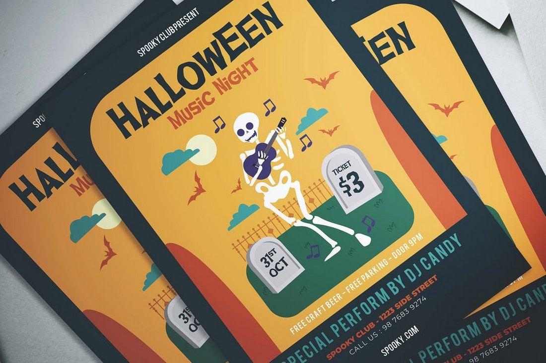 Halloween Music Night Flyer