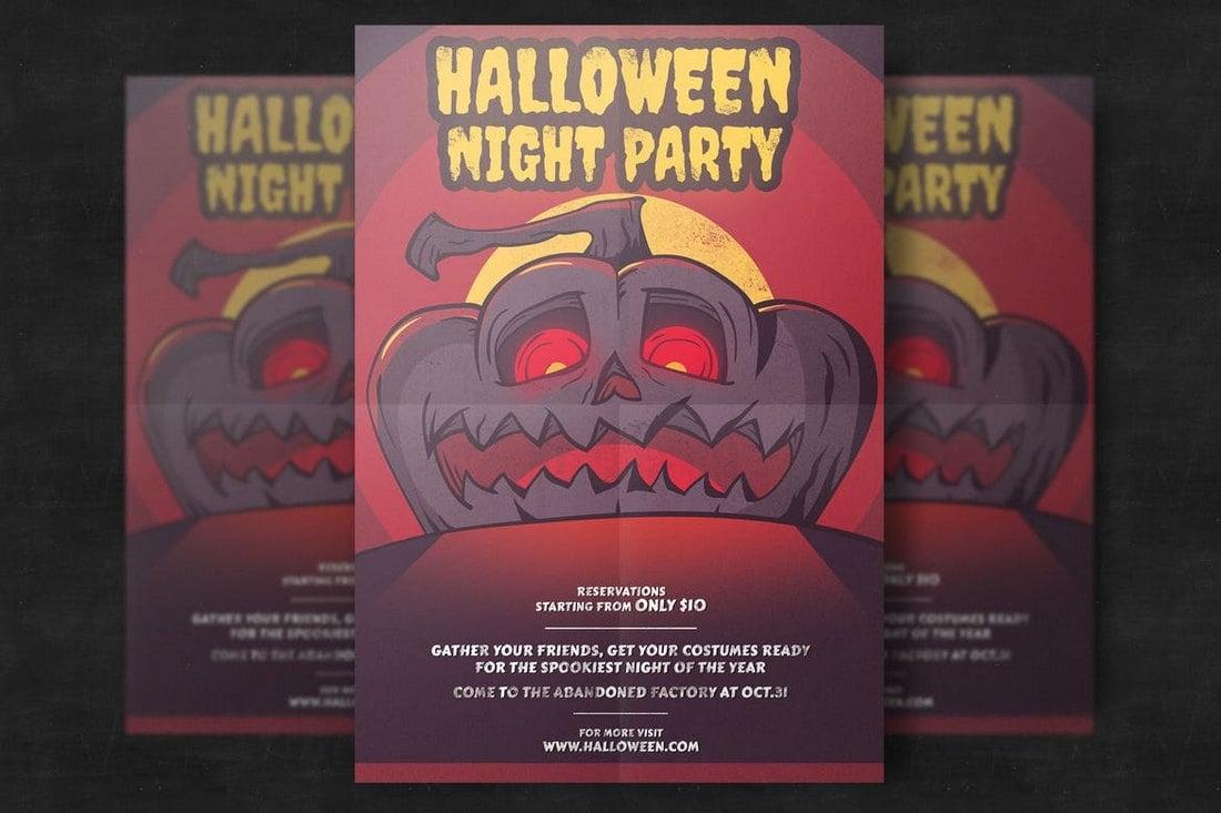 Halloween Pumpkin Party Flyer Template